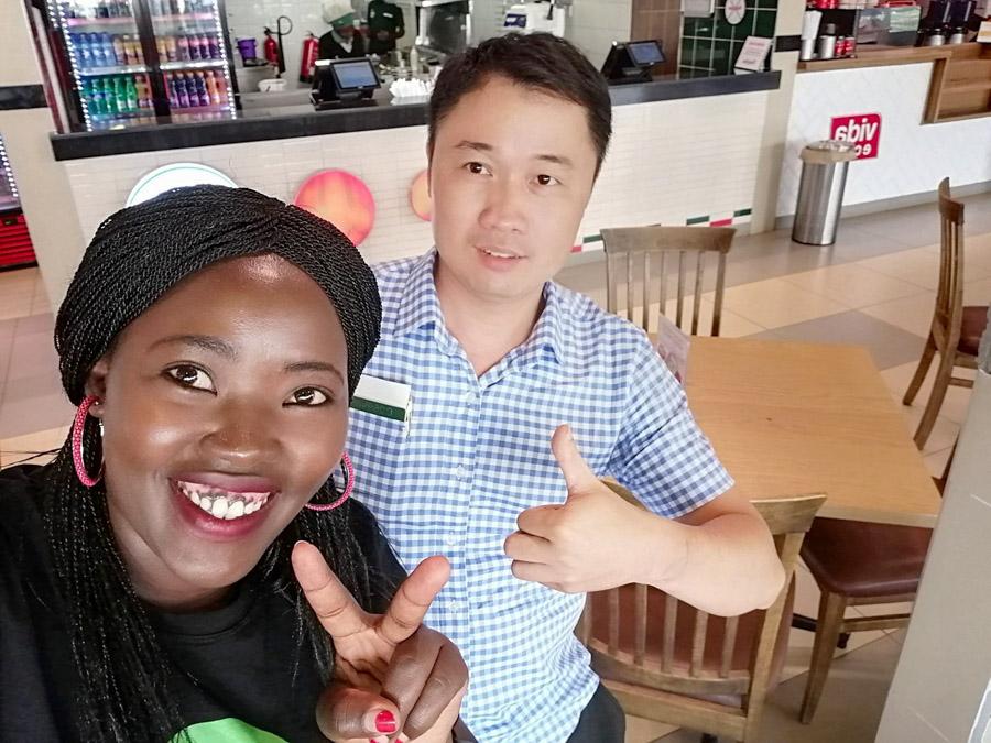 with Kenyan hosts