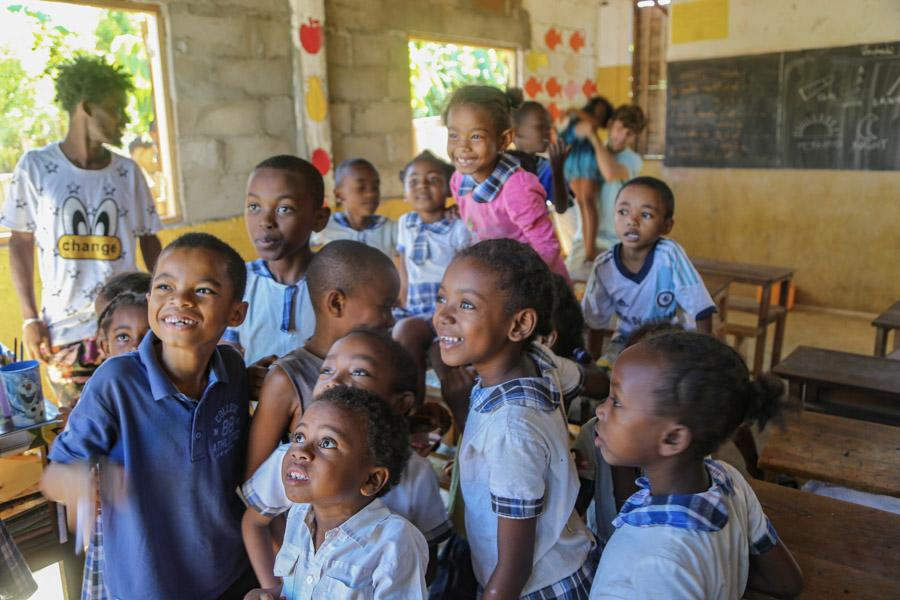 smiling school children