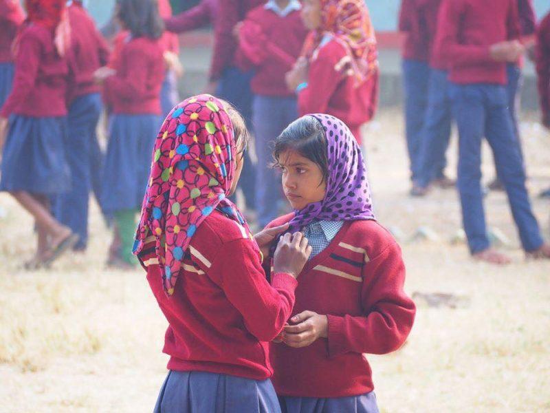 school kids Bodhgaya