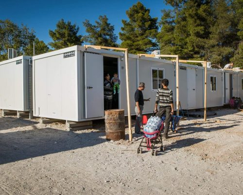 family housing refugee crisis greece