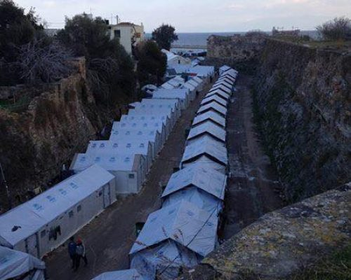 example refugee camp greece