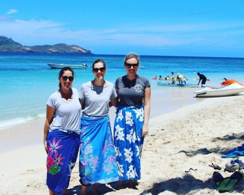 jules and the nutrition team in fiji