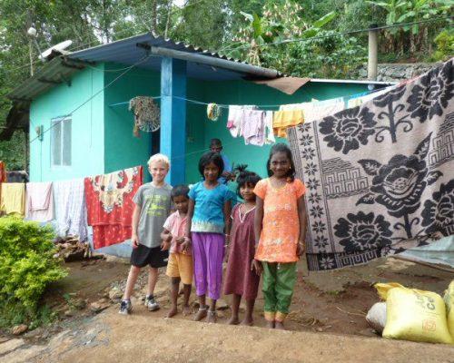 family volunteering abroad