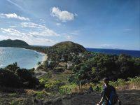 Amazing shot of remote island fiji