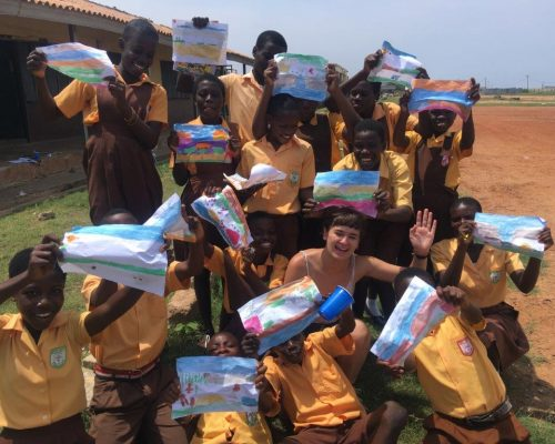 Arts Teaching and design project in Ghana