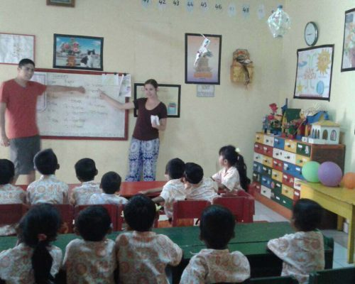 Bali kindergarten teaching