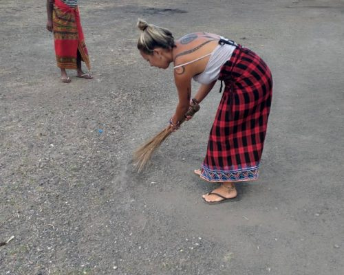 sweeping on community support project, Tanzania