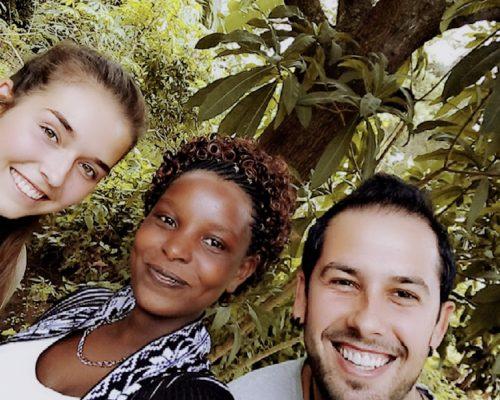 Coordinator selfie with participants