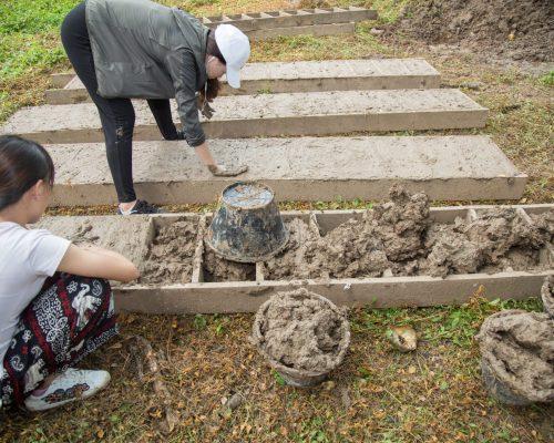 Creating clay bricks
