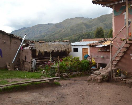lovely countryside shot in andes mountains