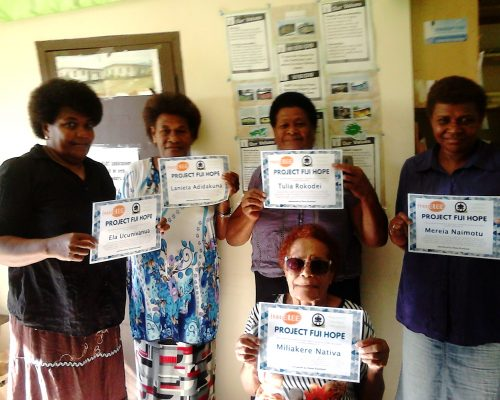 Donations to woman and childrens commune in fiji