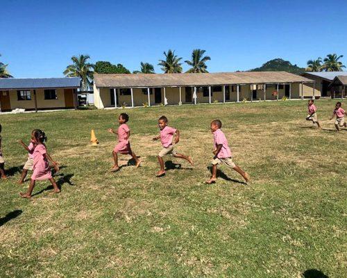 Fiji children from remote island school