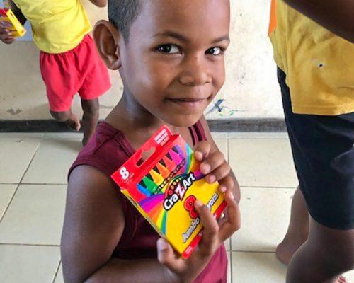 Fiji children from remote island