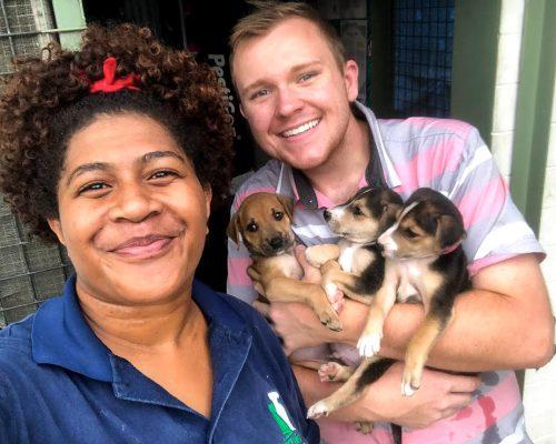 Fiji animal shelter volunteer