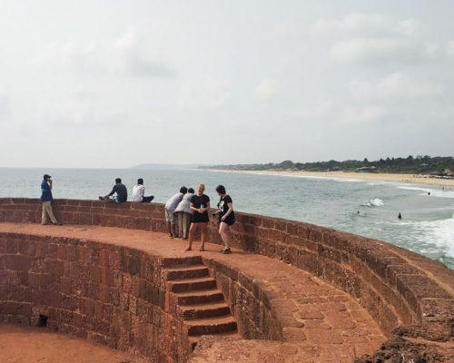 view over Goa beach