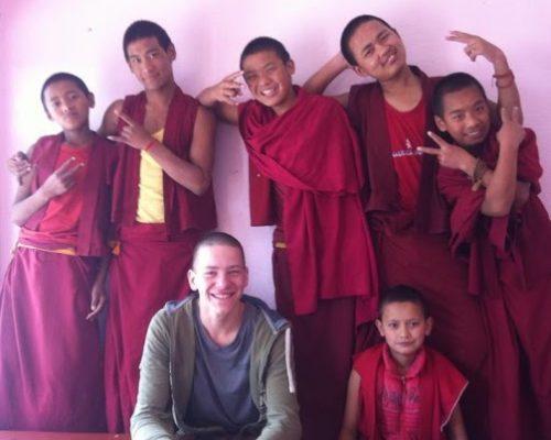 teaching english to monks