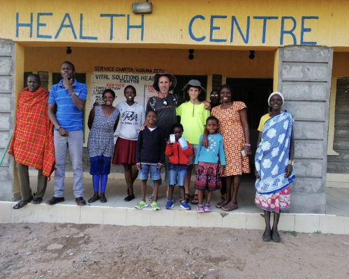 _Group photo at health centre