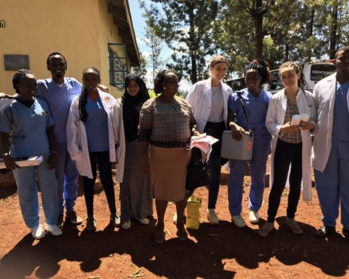 Group photo of participant with public health officer