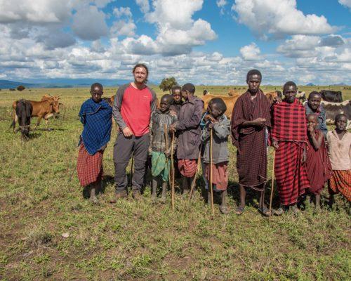 _Group photo with Maasai people (7)