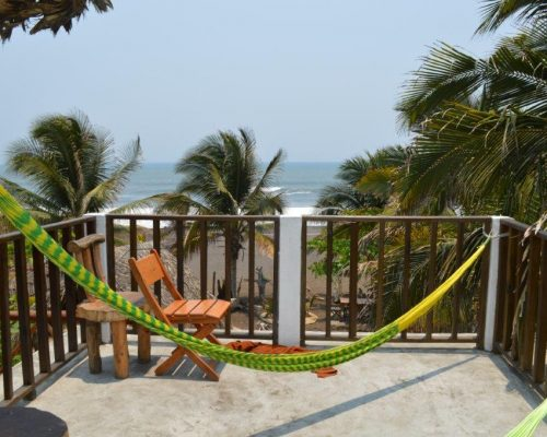 hammock overlooking beach