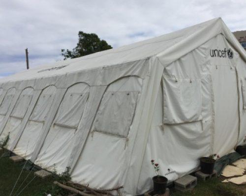 Unicef provided tents post the cyclone in Raki Raki