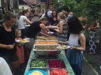 volunteer in bali canteen