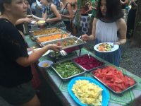 volunteers receive 3 meal per day in bali