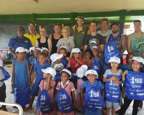 IVI volunteers in Fiji TAFE QLD college group