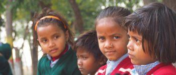 school kids in india