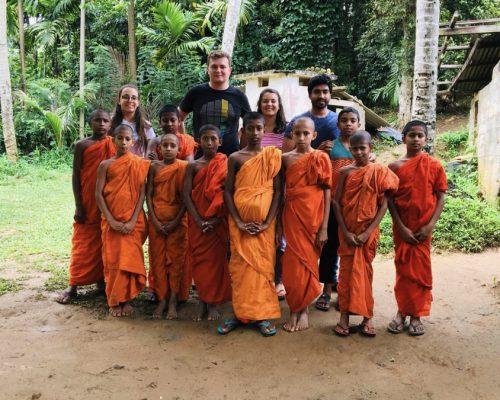with group of young monks