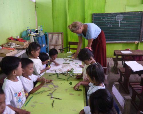 Title teaching in kindergartens through ivi Capti