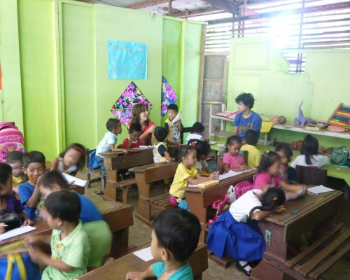 a typical classroom in palwan philippines