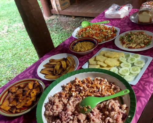 Meals provided to Volunteers in Vanuatu