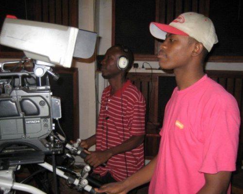 Media team filming