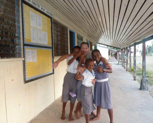 Brian with the beautiful fiji children