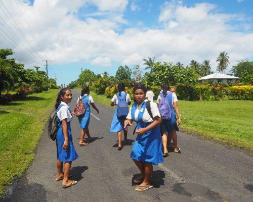 School kids in Apia
