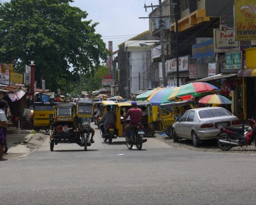 bustling city streets philippines