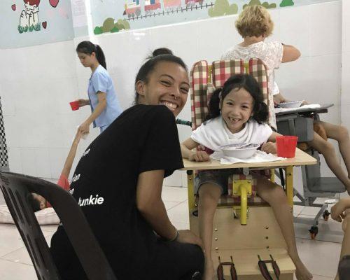 Participant feeding a child (1)