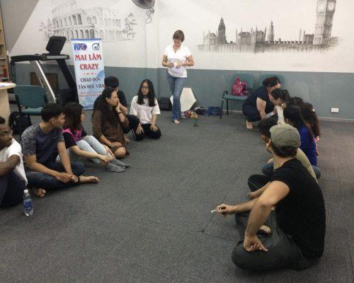 Participant giving class- Ho Chi Minh- IVI