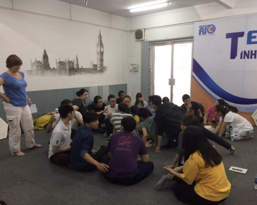 Participant giving class (- Ho Chi Minh