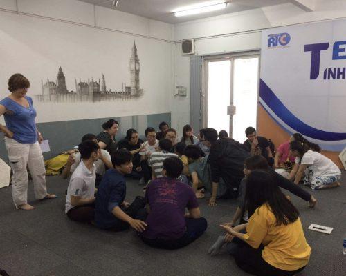 Participant giving class (- Ho Chi Minh