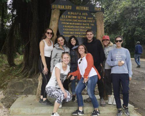 Participant in Kilimanjaro national park