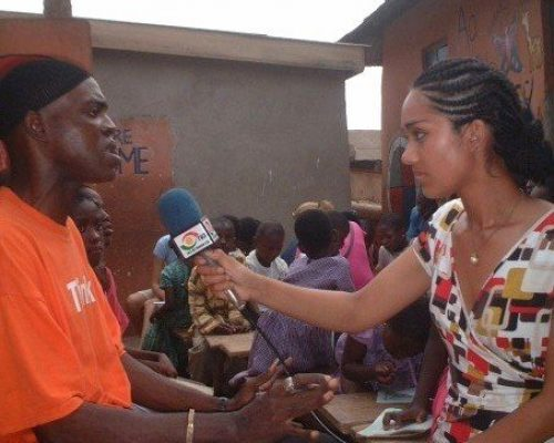 Participant interviewing a local