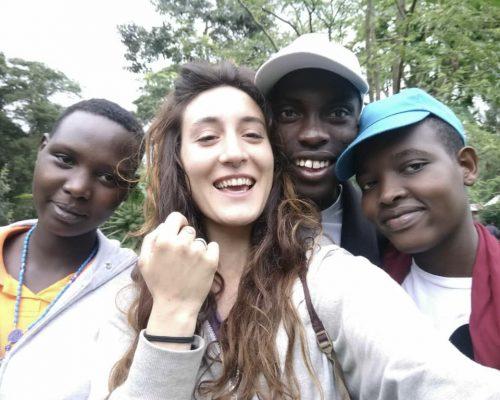 Participant selfie with locals