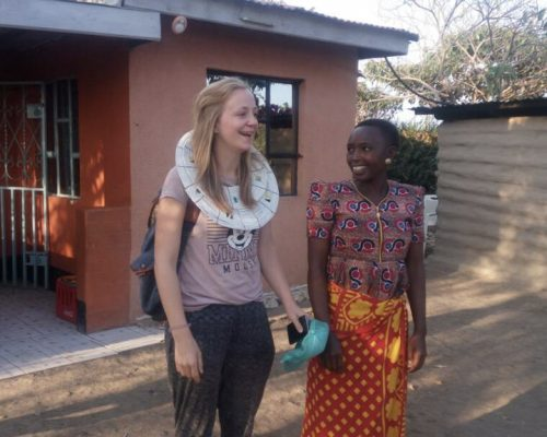 Participant talking with Maasai people