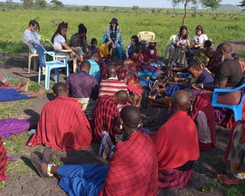 Maasai village meeting