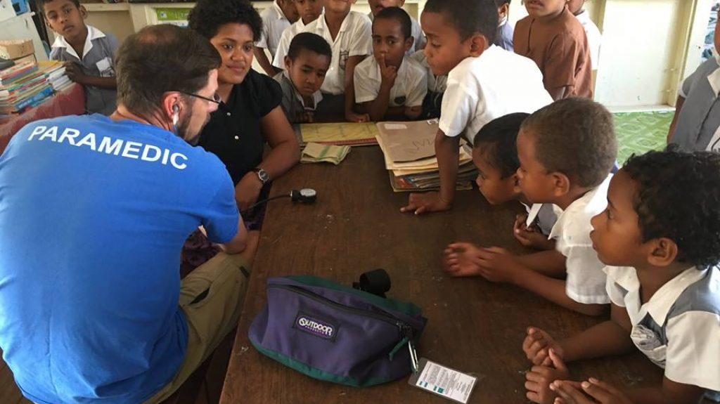 Peter Dawson paramedic lessons for children in fiji