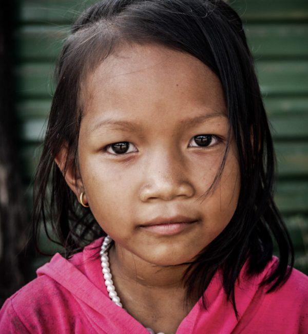 Portrait of student in Cambodia