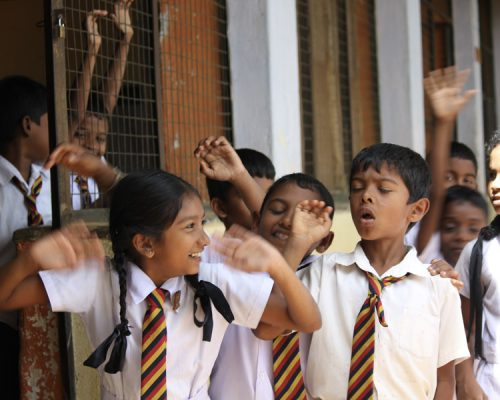 Primary school children Sri Lanka