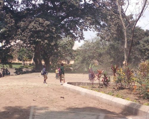 School kids in playground in Tanzania